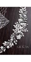 ANDROMEDA Crystal Bridal Headpiece - Wedding Hair Vine