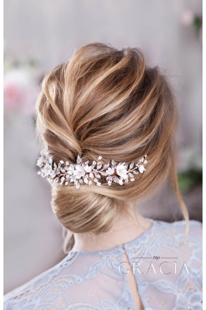 Creating Abri Bridal Floral Hairpiece with Sakura Blooms for a Social Media Influencer