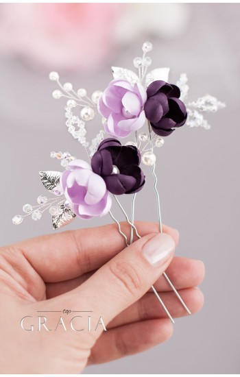 AIKA Violet Bridal Hair Pins