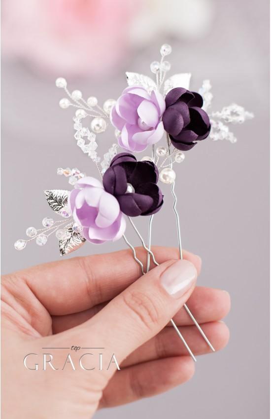 AIKA Violet Bridal Hair Pins