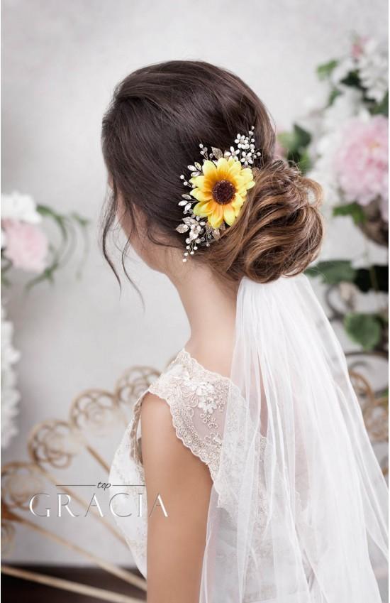 CALLI Rustic Headpiece Be the Sun of Your Big Day - Autumn Wedding!