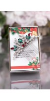 Christmas gift - red and green crystal jewelry set