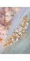 EIRENE Silver leaf wedding hair comb bridal leaf headpiece