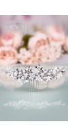EIRENE Silver leaf wedding hair comb bridal leaf headpiece