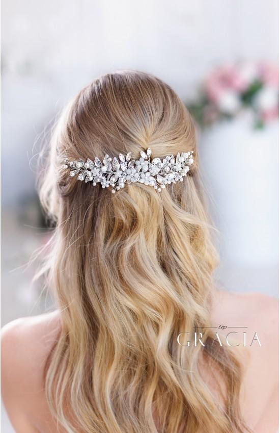 Eirene Silver Leaf Wedding Hair Comb Bridal Headpiece