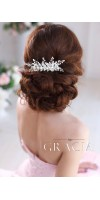 ELENE Ivory Pearl and Crystal Bridal Hair Comb