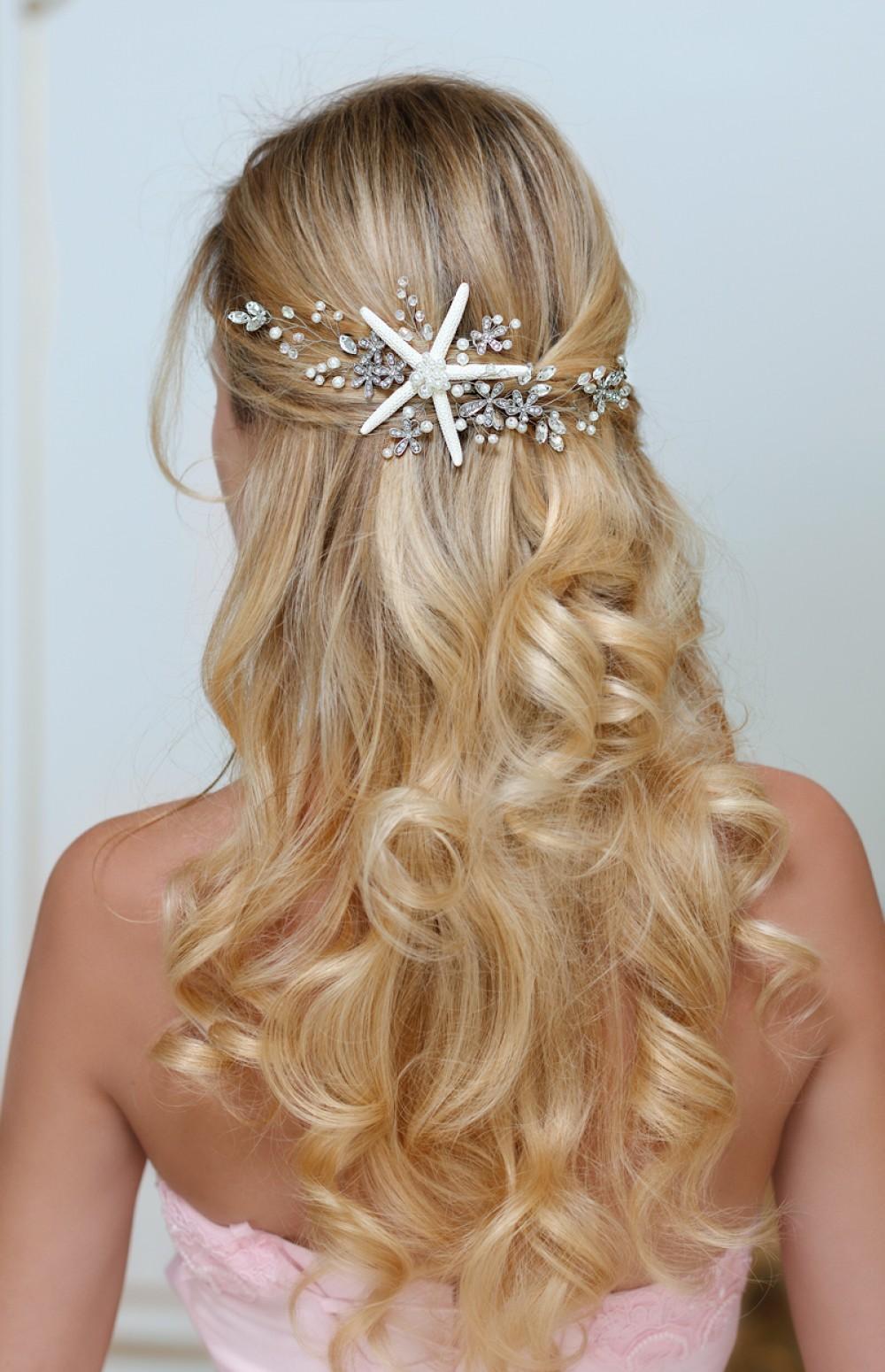 Despoina Starfish Headband For Destination Wedding Beach Hair Accessories By Topgracia