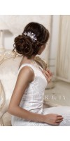 ERIKA Royal Blue Crystal Bridal Hair Comb With Pearl Something Blue