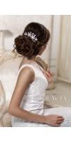 ERIKA Royal Blue Crystal Bridal Hair Comb With Pearl Something Blue