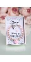 EVE Blush Flower Girl Bracelet Necklace Gift For Little Girl Jewelry Set Of 3