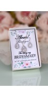 MELITA Bridesmaid Gift Jewelry Set Crystal Teardrop Bridal Earrings Necklace Cubic Zirconia
