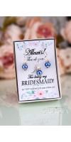 MELETE Royal Blue Pearl Wedding Jewelry Set Bridal Bridesmaid Necklace Earrings