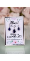 MAIA Sapphire Navy Something Blue Teardrop Bridesmaid Jewelry Gift Bridal Crystal Earrings Necklace