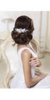 KASSIOPEIA Flower Silver Pearl Wedding Hair Comb Bridal Flower Accessory