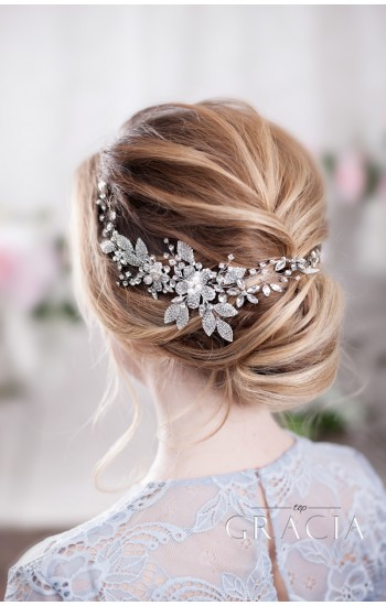 KATERINE Lustrous Crystal Wedding Hair Piece