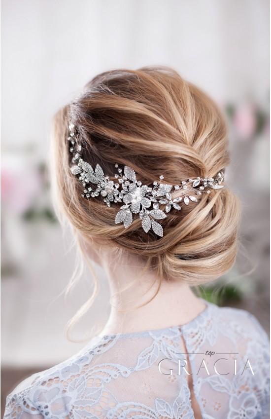 KATERINE Lustrous Crystal Wedding Hair Piece