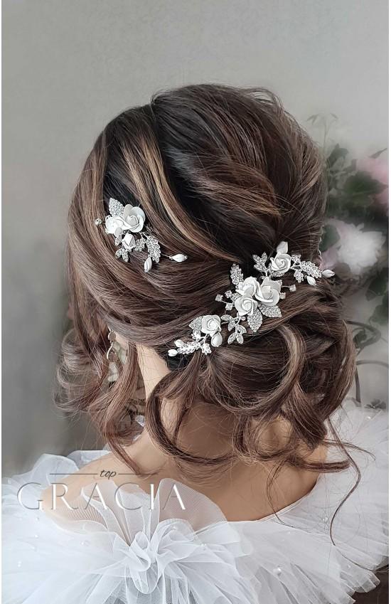 KIRA Rose Wedding Hairpiece