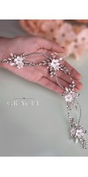 KLEOPATRA Crystal Fower Rhinestone Bridal Halo for Wedding Headband