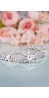 KLEOPATRA Crystal Fower Bridal Halo for Wedding Headband
