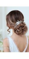 KYRILLOS Crystal White Flower Bridal Hairpin Ivory Wedding Hair Pins
