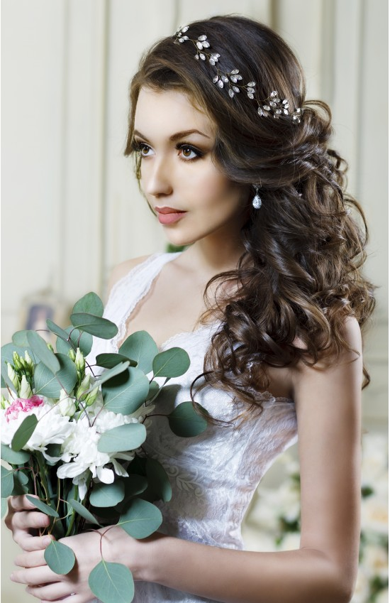 LUDA Crystal Bridal Headpiece Updo for Wedding
