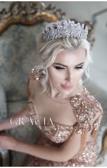 LYDA cubic zirconia wedding crown