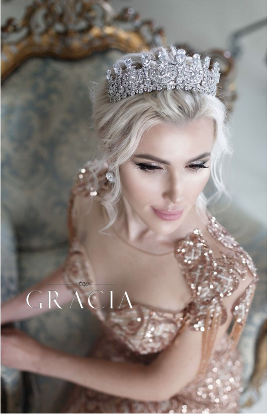 LYDA cubic zirconia wedding crown