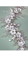 OLYMPIA Ivory Crystal And Flower Wedding Hair Comb Accessories