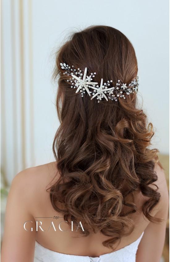 OURANIA Starfish Jewelry Beach Bridal Headband Destination Wedding Mermaid Hair Piece