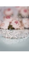 OURANIA Starfish Jewelry Beach Bridal Headband Destination Wedding Mermaid Hair Piece