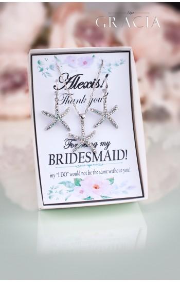 PALLAS Starfish Earrings Beach Wedding Bridesmaid Jewelry Gift Set