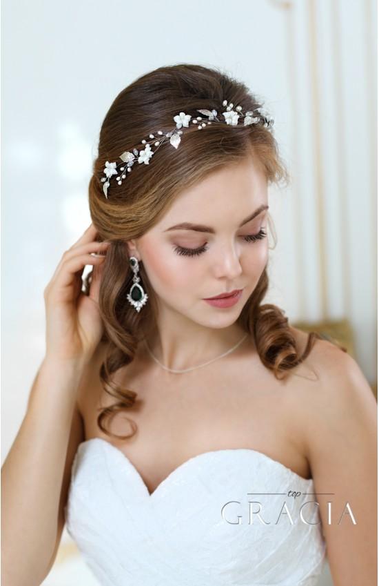 Penelope white leaf pearl bridal flower tiara crown by topgracia penelope white leaf pearl bridal flower tiara crown mightylinksfo