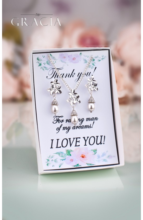 PERSIS Mother Of The Bride Bridesmaid Pearl Jewelry Gift Set