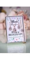 PHAIDRA Crystal Rose Gold Bridal Jewelry Set Wedding Bridesmaid Gift