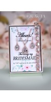 SOFIA Rose Gold Crystal Bridal Earrings Bracelet Necklace Jewelery Set