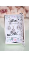TIMO Bridal Party Bridesmaid Personalized Gift Cubic Zirconia Gewelry Set