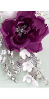 TIMOQ Purple Flower Bridal Hair Comb for Luxury Women