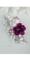 TIMOQ Purple Flower Bridal Hair Comb for Luxury Women