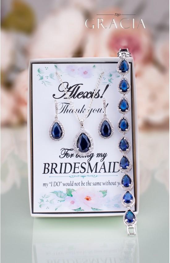 VASILIKI Sapphire Navy Blue Earrings Bridesmaid Gift September Birthstone Jewelry