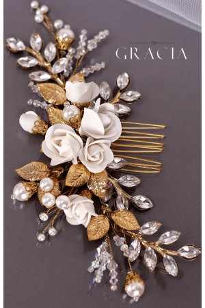 Bespoke Bridal Hair Comb from TopGracia for the Second Bridal Breath