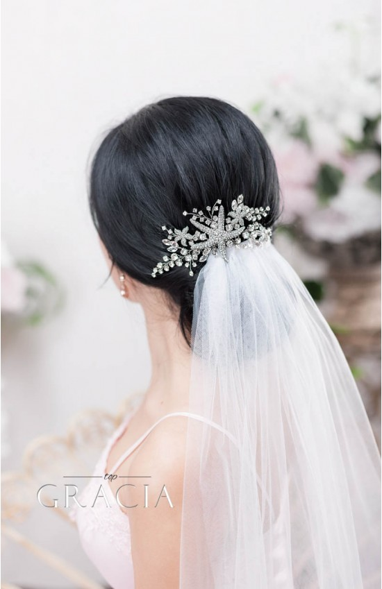 XENE Starfish Bridal Hair Comb for a Grandiose Beach Wedding Look