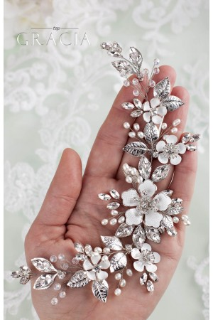 Wedding Hair Piece ZENAIS in Vintage Style: Elegant and Exotic Beauty Combined