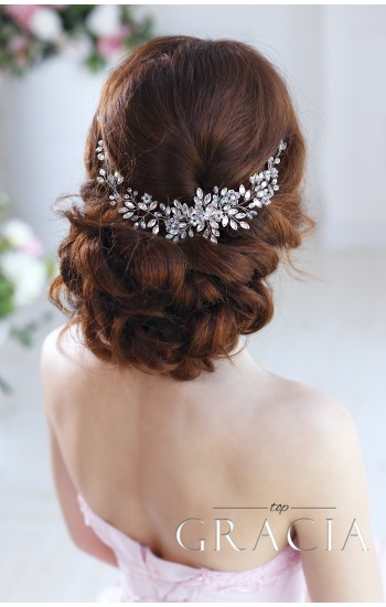 ANDROMEDA Crystal Bridal Headpiece - Wedding Hair Vine