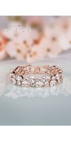 EFTHALIA Rose gold crystal bridal bracelet with cubic zirconium