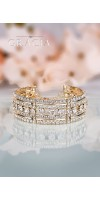 DESPOINE Gold Crystal Bridal Wedding Bracelet