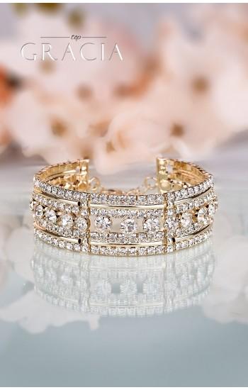 DESPOINE Gold Crystal Bridal Wedding Bracelet