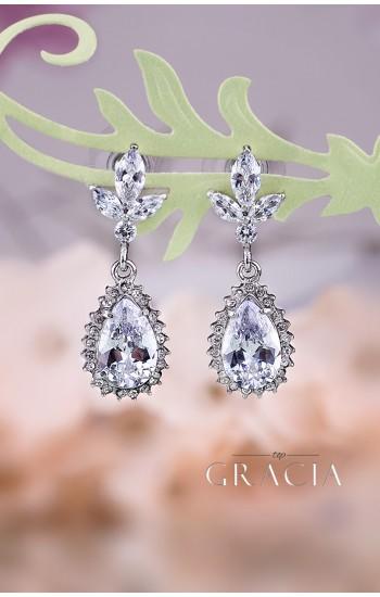MAEJA Crystal Drop Bridal Earrings Wedding Jewelry
