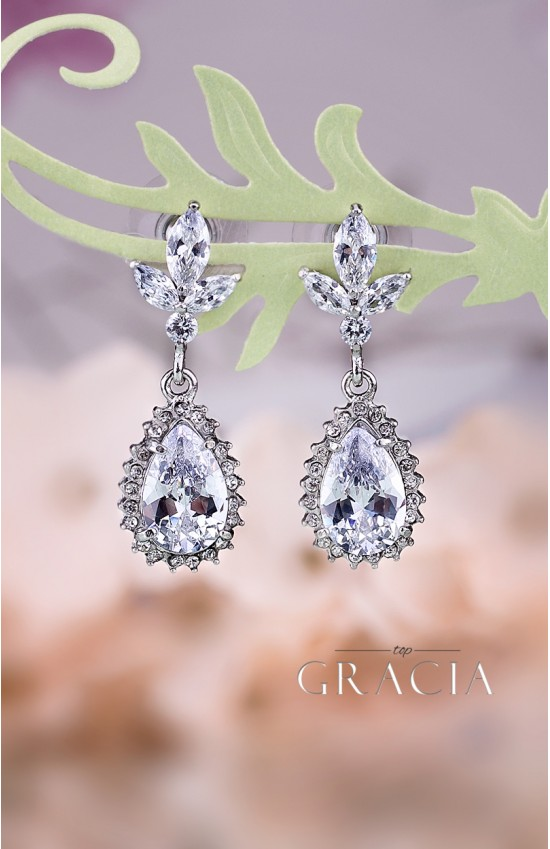 MAEJA Crystal Drop Bridal Earrings Wedding Jewelry