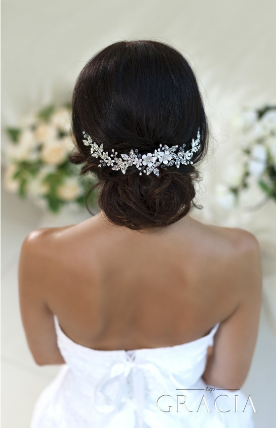 BERENIKE Flower Bridal Headpiece With Crystals