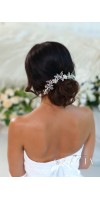 KHRYSEIS Bridal Hair Accessories Crystal Bridal headpiece Hair Vine With Flowers